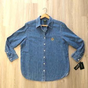 Lauren Ralph Lauren Vintage Denim Shirt NWT SZ 1X